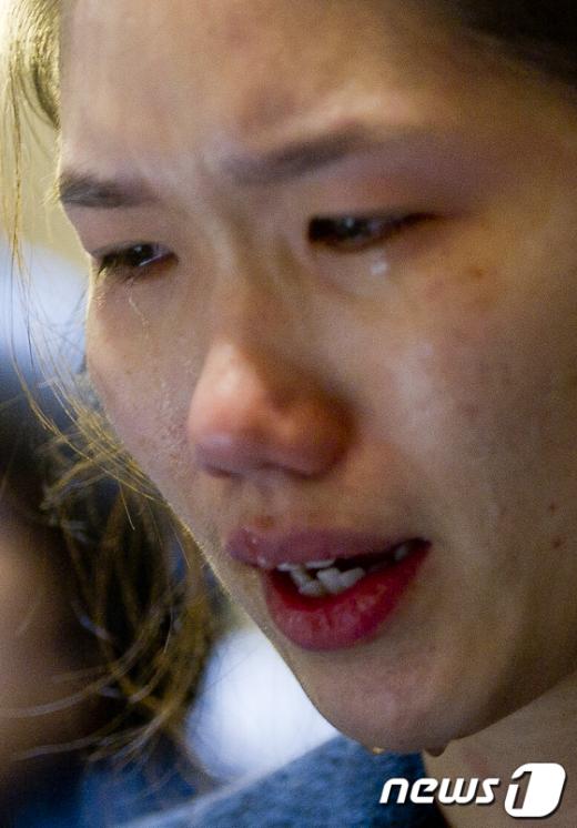[사진]'아버지 생각에 하염없이 눈물흘리는 병민씨'