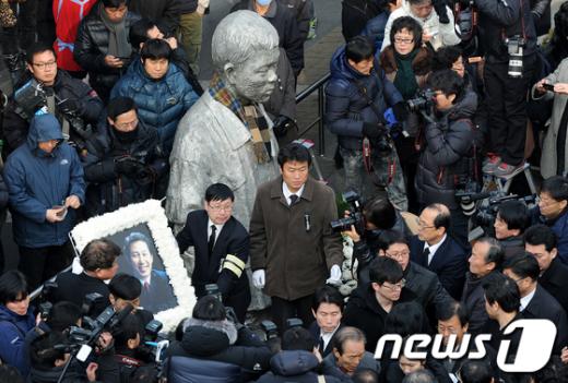 [사진]故 김근태 상임고문 노제