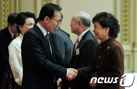 [사진]이명박 대통령, 2012년 신년인사회