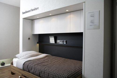 ↑침대에서 책상으로 바뀌는 트렌스포머 퍼니쳐(transformer furniture, 형태나 위치를 바꿔 다른 기능으로 활용이 가능한 가구) 등을 통해 공간활용의 효율성을 극대화 했다. ⓒ한화건설
