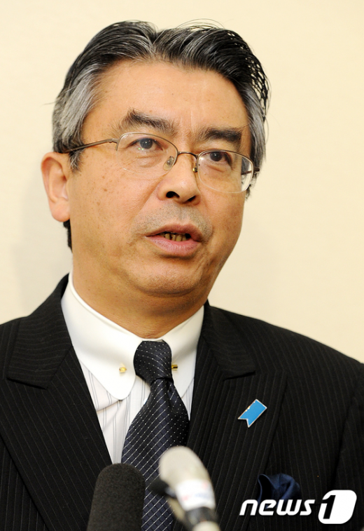 [사진]기자회견 갖는 일본 6자회담 대표