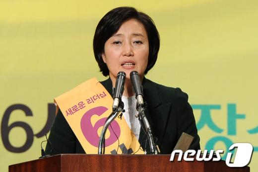 [사진]합동연설회 지지 호소하는 박영선 후보
