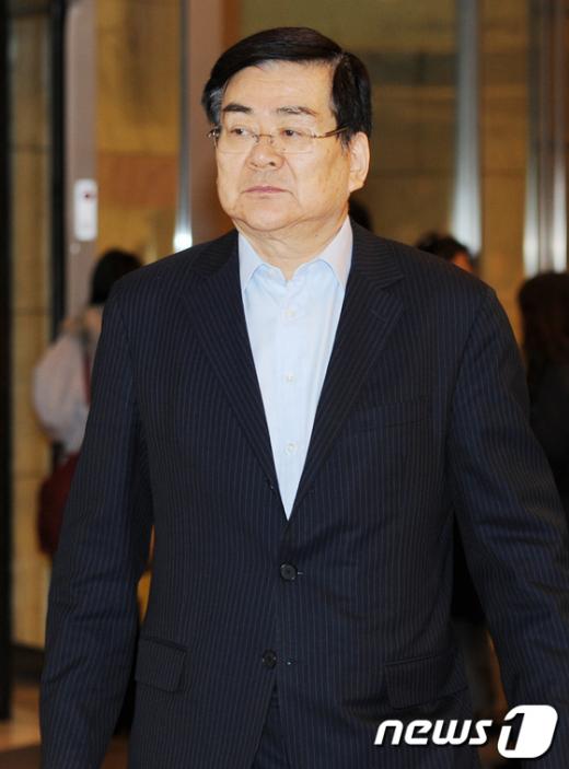 [사진]'李 대통령과의 신년간담회' 참석한 조양호 회장