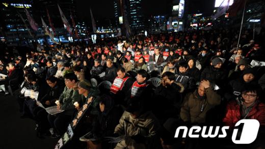[사진]서울역광장서 열린 용산 3주기 추모대회