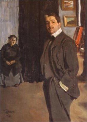 ↑ 레온 박스트(L. Bakst, 1866-1924)가 그린 디아길레프