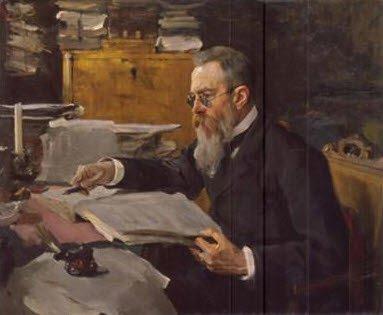 ↑ 발렌틴 세로프(V.Serov, 1865-1911)가 그린 림스키-코르사코프