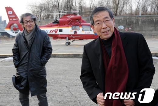 [사진]헬기타고 도시계획 세운 박원순 시장