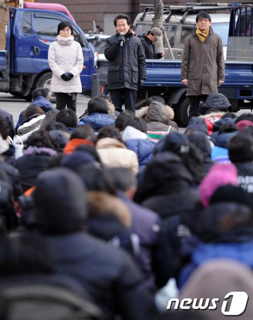[사진]'1500일 집회' 발언하는 정동영 고문