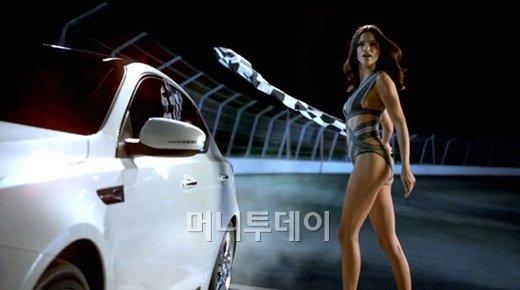 ↑2012 기아차 'K5' 슈퍼볼광고 한 장면