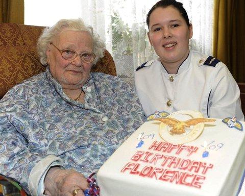 플로렌스 그린의 109번째 생일 당시 모습 (출처=뉴욕타임스)