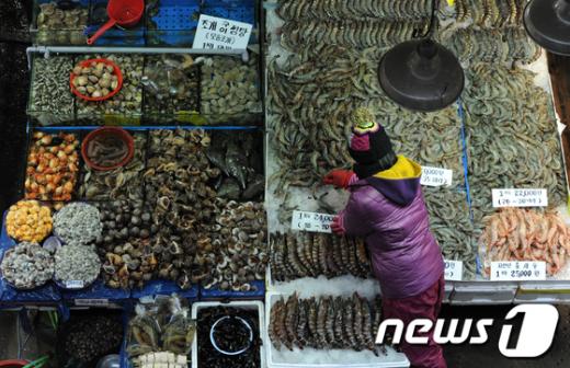 [사진]겨울 제철 수산물 '한가득'