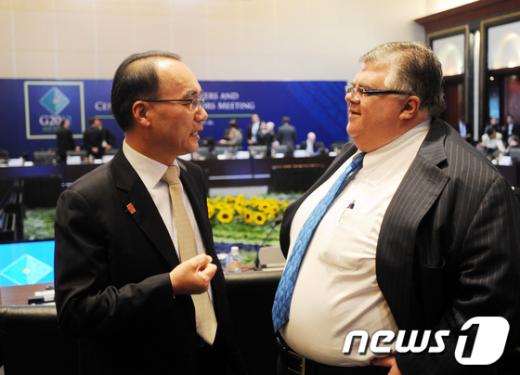 [사진]G20재무장관·중앙은행총재회의 참석한 박재완 장관