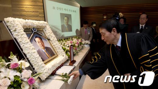[사진]헌화이어지는 故강영우 박사 영결식