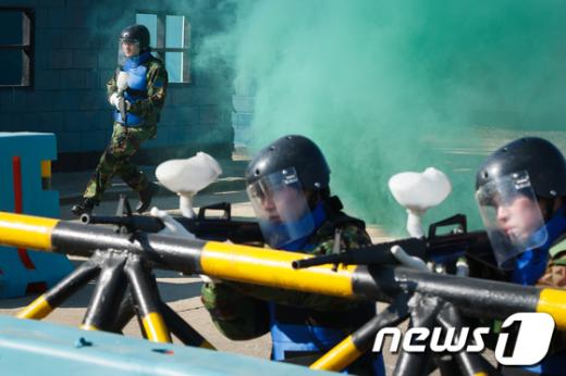 [사진]예비군훈련, '실감나네'