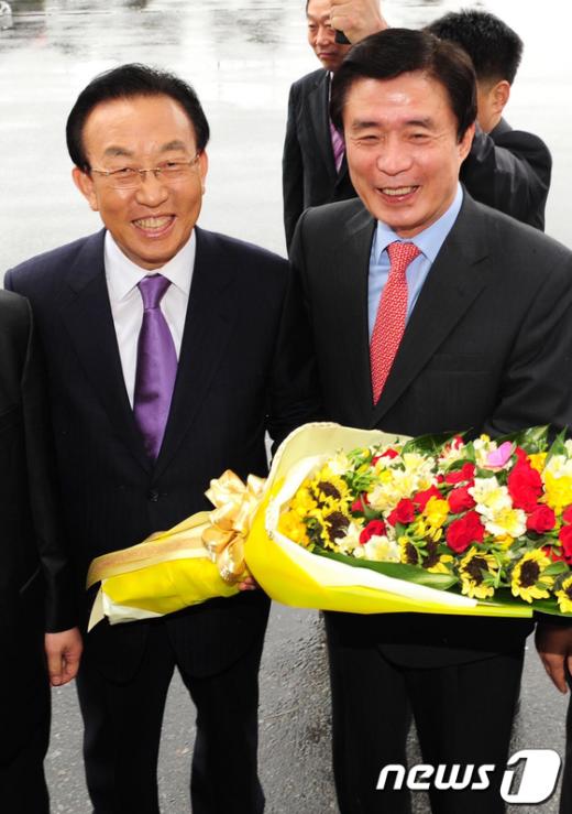 5일 오후 2시 대구시김범일시장이 경북도 김관용도지사 공식방문. News1