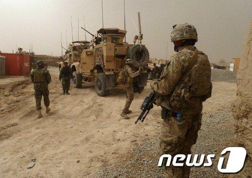 11일 아프가니스탄에서 미군 총기난사 사건이 발생한 후 미군이 기지 부군 경계를 강화하고 있다.  AFP=News1