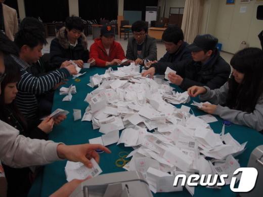 10~12일 실시된 민주통합당 광주 국민경선에서 현역의원 3명이 모두 승리하는 등 교체율이 낮은 것으로 나타났다.  News1 위안나