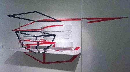 ↑찰리한(Chalie Hahn) '스탠드1110', 혼합재료, 2010<br />