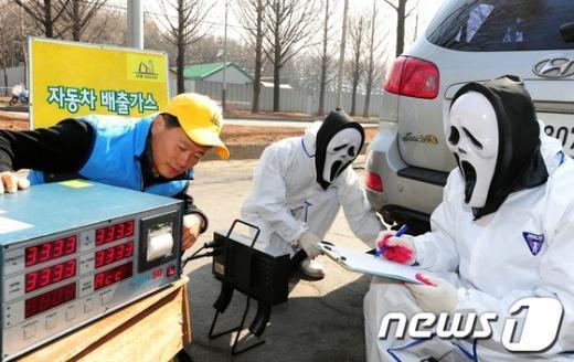 [사진]서초구, 차량 배출가스 무료점검