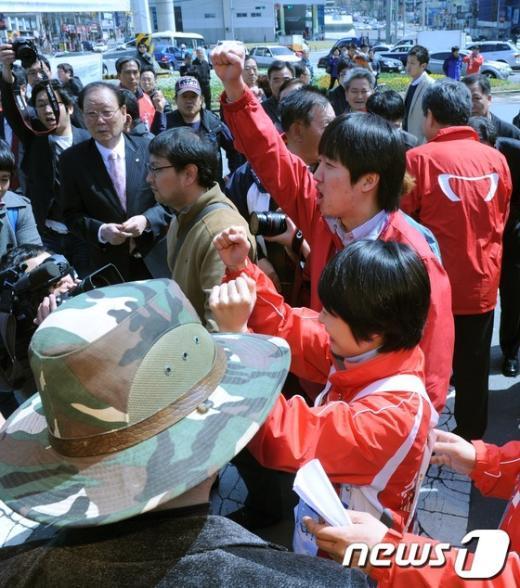 [사진]이상돈.이준석 비대위원, 주말 부산 젊은층 집중 공략