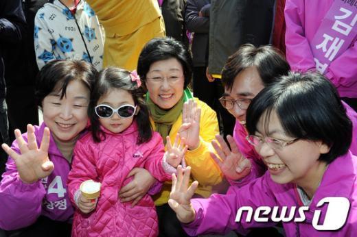 [사진]민주-진보 합동유세