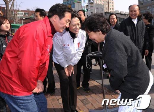 [사진]정몽준, '완쾌하세요'