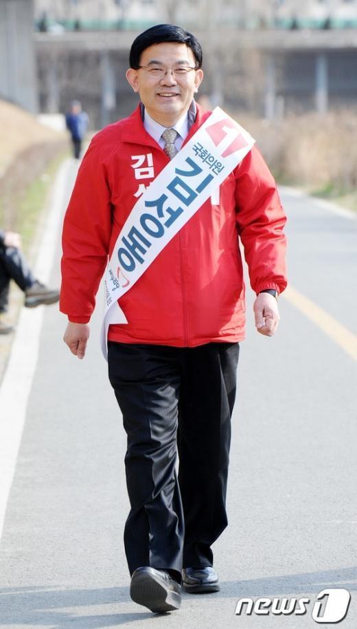 [사진]불광천 걷는 김성동 후보