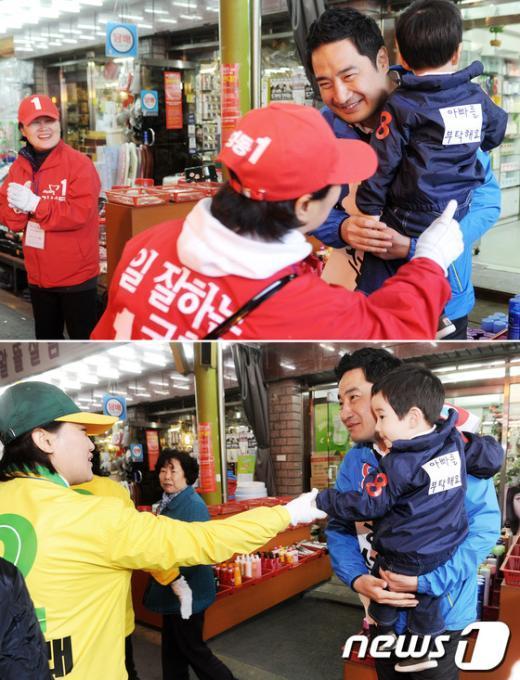 [사진]강용석과 아들, '인기만발'