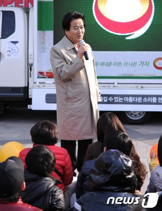 [사진]정동영, '강남에서 변화의 시작을'