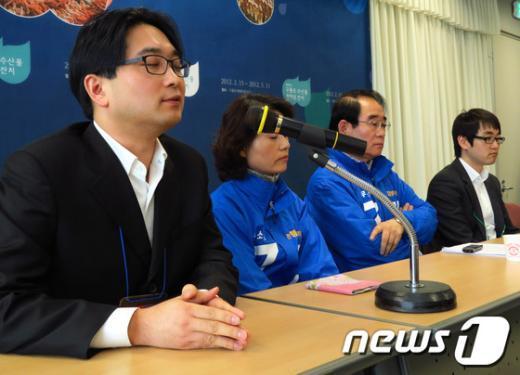 고소한 당사자로 알려졌던 큰 아들 지훈(38)씨가 루머와 관련된 자신의 입장을 밝히고 있다./최창호 기자 News1