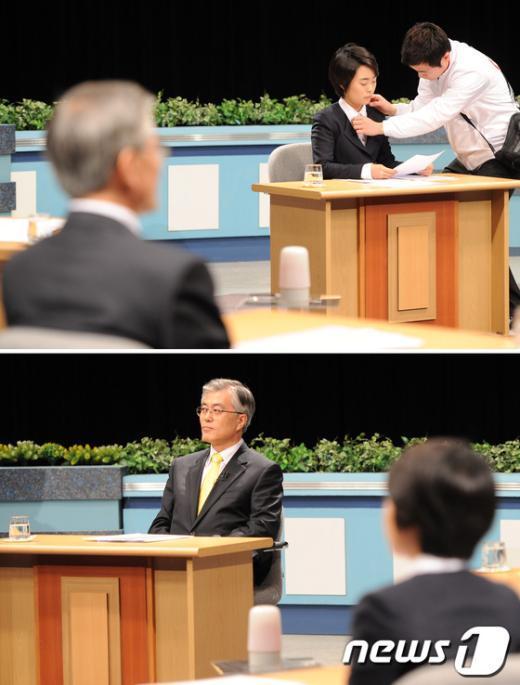 [사진]TV토론회 앞둔 손수조-문재인