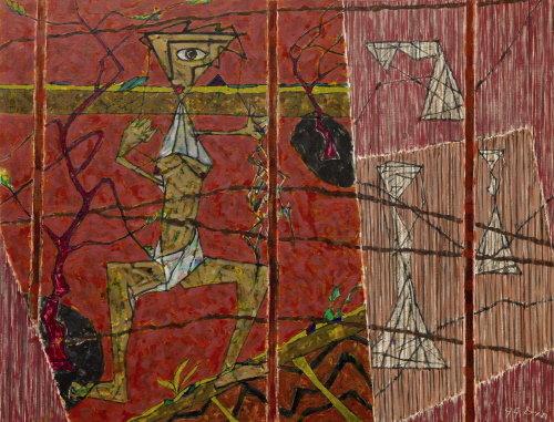 ↑황용엽 '옛이야기' 112x146(80호), 1999년