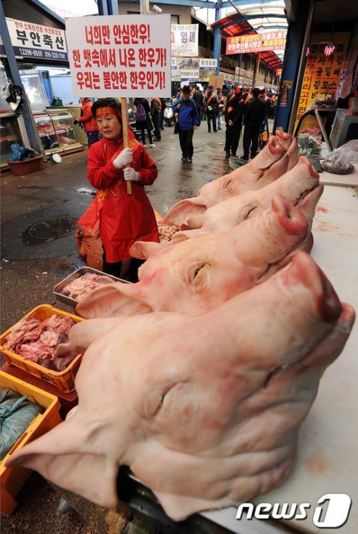 [사진]마장축산물시장 상인의 분노