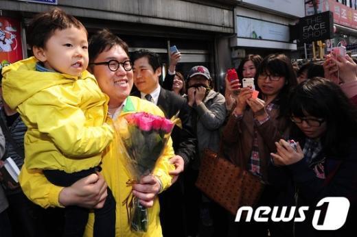 [사진]김용민 후보, 마지막 주말유세