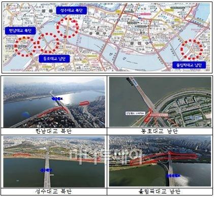 교통정체 유발 한남대교·성수대교 북단에 연결로 신설