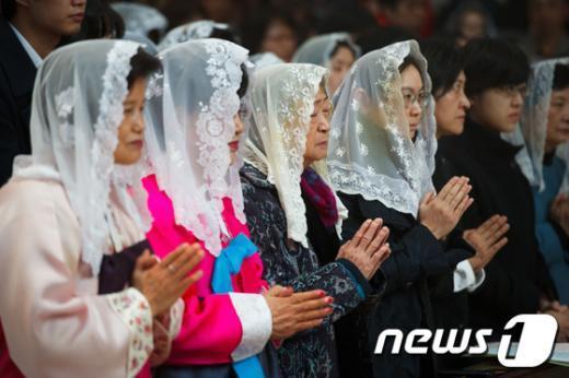 [사진]명동성당서 열린 부활절 기념 미사