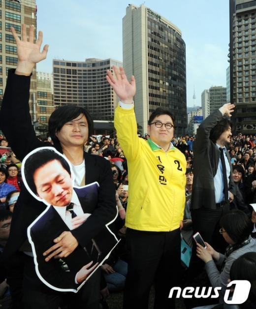 [사진]총선 완주 의사를 밝힌 김용민 후보