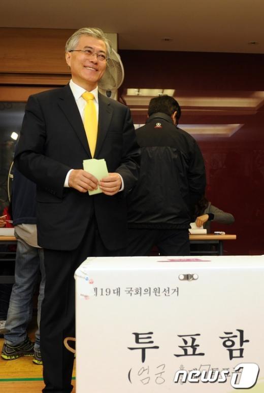 [사진]문재인 후보, 여유있는 미소