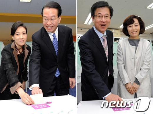 [사진]권영세VS신경민 '웃고는 있지만'