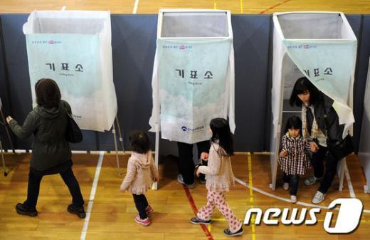 [사진]미래의 유권자들도 함께