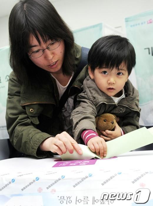 [사진]투표 배우는 미래의 유권자