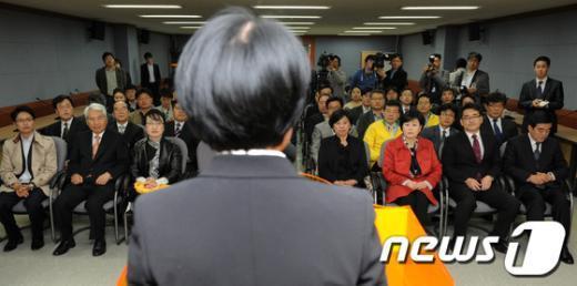 [사진]민주통합당 선대위 해단식