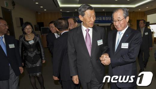 [사진]한국무역협회 제28대 회장단 출범