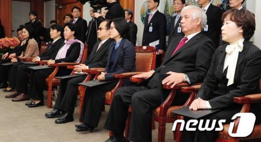 [사진]제 19대 국회의원 비례대표 당선증 교부식