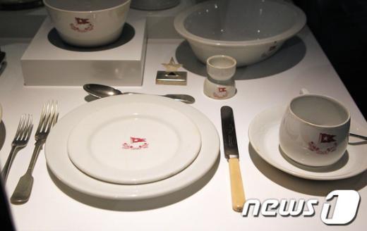 타이타닉호 3등석 승객이 쓰던 투박한 접시. AFP=News1