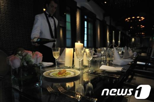 홍콩의 휼렛 하우스 호텔이 재현한 타이타닉호의 마지막 식사. AFP=News1