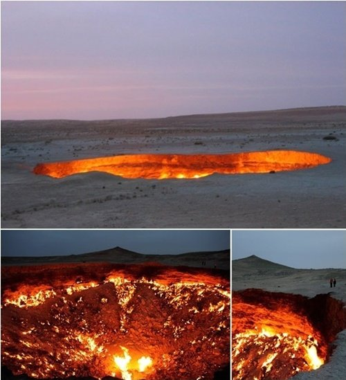 ▲투르크메니스탄에 위치한 '지옥의 문' (출처=온라인 커뮤니티)