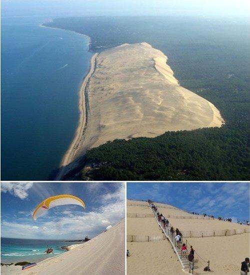▲프랑스 파일라 모래언덕 (사진=온라인 커뮤니티)