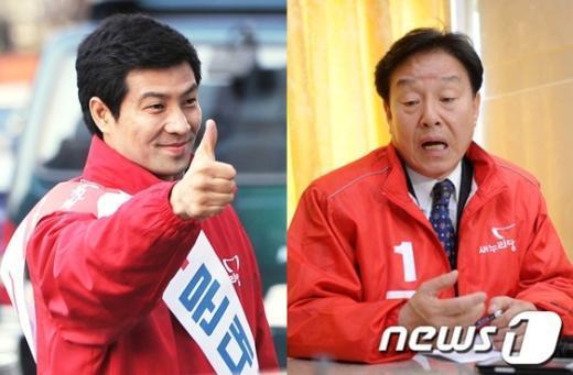 새누리당 문대성, 김형태 당선자ⓒ사진 제공=뉴스1/양동욱 기자, 최창호 기자