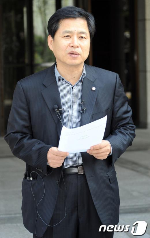[사진]대법원 판결 관련 입장 밝히는 장석웅 위원장